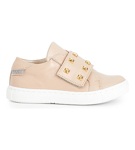 STEP2WO Scala studded leather trainers 6 months - 7 years (Beige