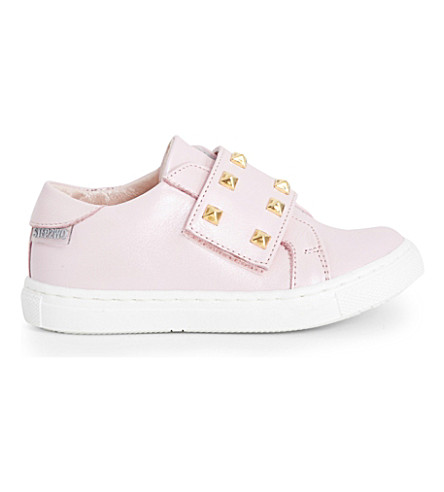 STEP2WO Scala studded leather trainers 6 months - 7 years (Pink