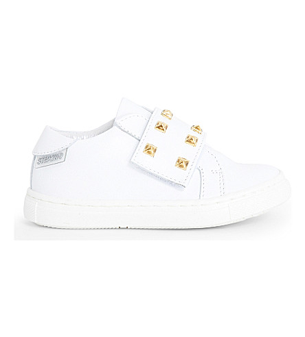 STEP2WO Scala studded leather trainers 6 months - 7 years (White