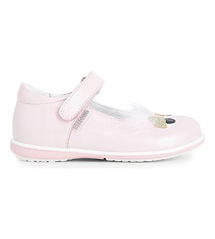 STEP2WO Babette leather mary jane shoes 6 months-4 years (Pink+leather