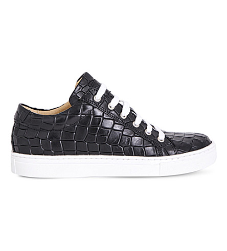 STEP2WO Crocstick crocodile-embossed trainer 7-14 years (Black