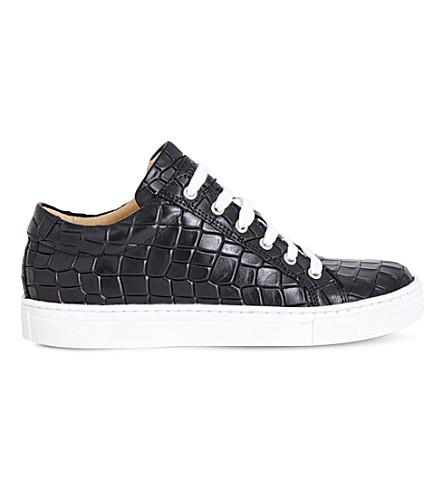 STEP2WO Crocstick crocodile-embossed sneaker 7-14 years (Black