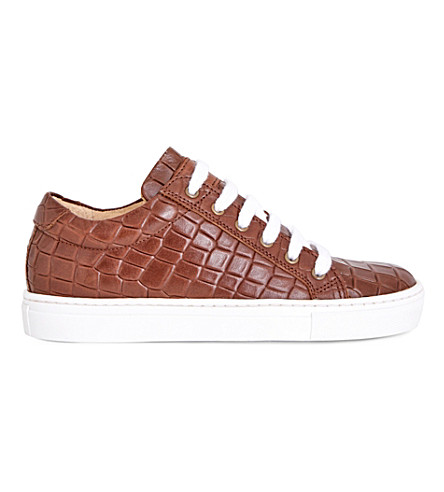 STEP2WO Crocstick crocodile-embossed sneaker 7-14 years (Tan