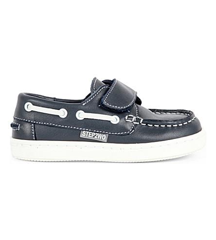 STEP2WO 卡特皮船鞋履 1-5 岁(海军 + 皮革