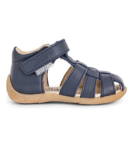 STEP2WO Peyton leather sandals 1-4 years (Navy+leather
