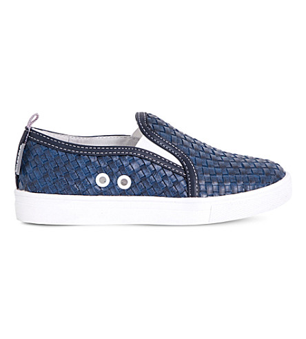 STEP2WO Jacopo woven leather trainers 4-12 years (Blue