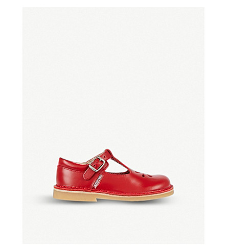 STEP2WO Eva leather T-bar shoes 2-7 years (Red+leather