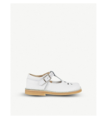 STEP2WO Eva leather T-bar shoes 2-7 years (White+leather