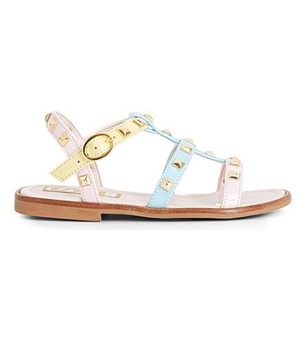 STEP2WO Sophia studded leather gladiator sandals 6-10 years (Multi