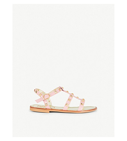 STEP2WO Sophia studded leather gladiator sandals 6-10 years (Pink+patent