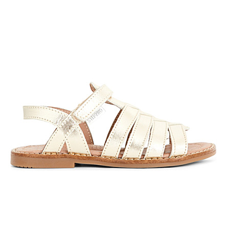 STEP2WO Cassia metallic leather sandals 5-9 years (Gold+leather