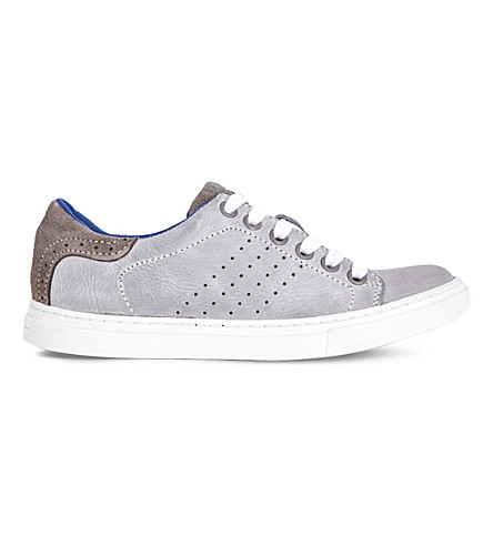 STEP2WO Brooklyn leather trainers 7-13 years (Grey+leather