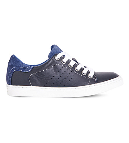 STEP2WO Brooklyn leather trainers 7-13 years (Navy+leather