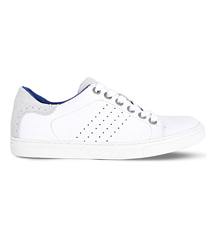 STEP2WO Brooklyn leather trainers 7-13 years (White+leather