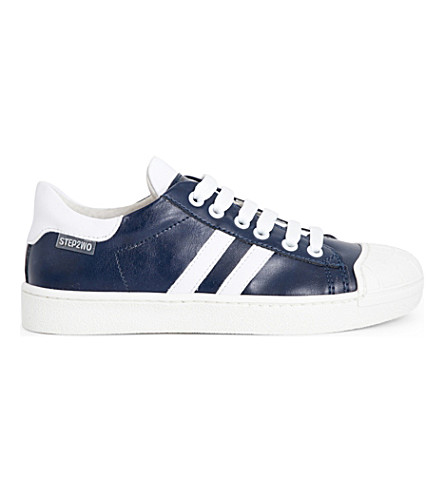 STEP2WO Falcon 2 faux-leather trainers 6-12 years (Blue/white