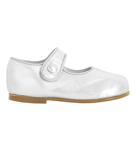STEP2WO Mary Jane leather shoes 1-4 years (Silver+leather