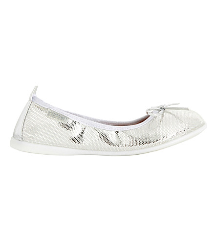 STEP2WO Sandy metallic snake-effect ballet flats 6-10 years (Silver