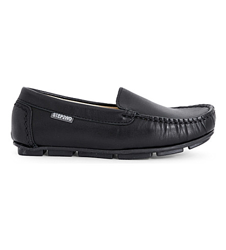 STEP2WO Charme leather moccasins 6-12 years (Black+leather