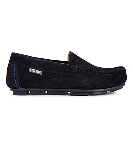 STEP2WO Charme suede moccasins 6-12 years (Navy+suede