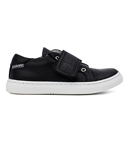 STEP2WO Jay leather trainers 6 months-11 years (Black+leather