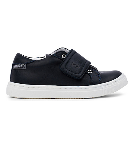 STEP2WO Jay leather trainers 3-11 years (Navy+leather
