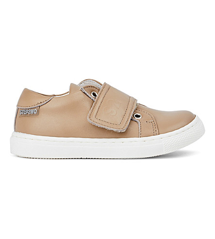 STEP2WO Jay leather trainers 3-11 years (Beige+leather