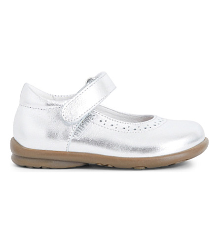 STEP2WO Hermione metallic leather mary jane shoes (Silver+leather