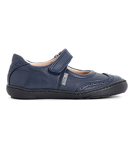 STEP2WO Clarissa leather mary jane shoes 3-8 years (Navy+leather