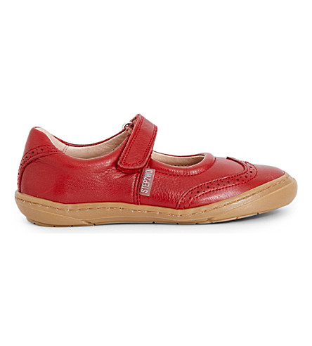 STEP2WO Clarissa leather mary jane shoes 3-8 years (Red+leather