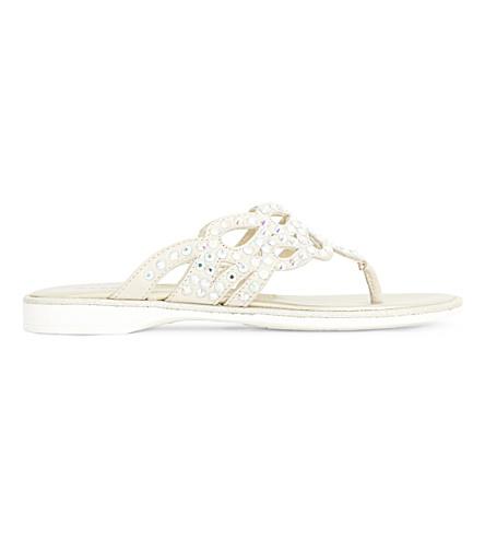 STEP2WO Ricamo rhinestone-embellished sandals 7-10 years (Beige