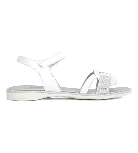 STEP2WO Richou metallic diamante-embellished sandals 6-10 years (White