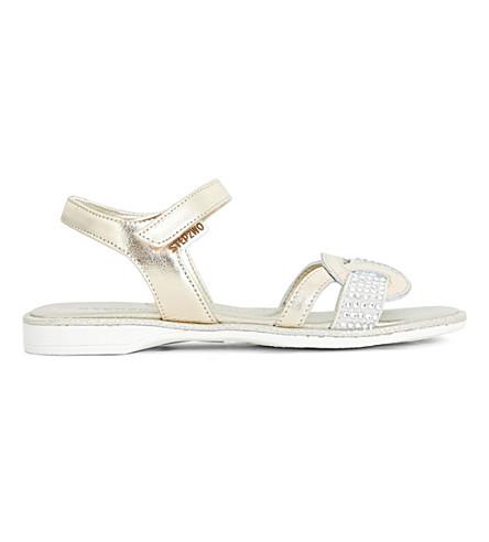 STEP2WO Richou metallic diamante-embellished sandals 6-10 years (Gold