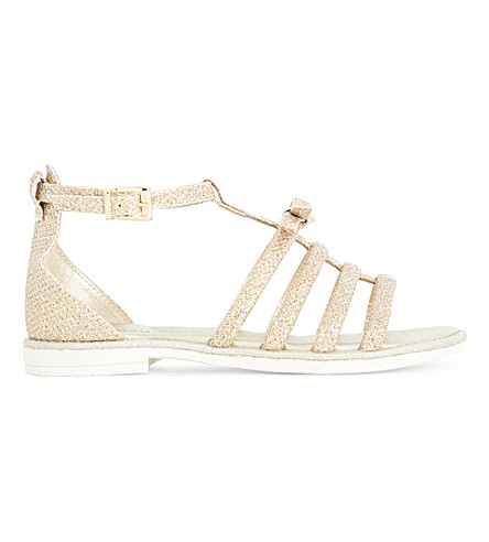 STEP2WO Galia metallic leather sandals 6-9 years (Gold+leather