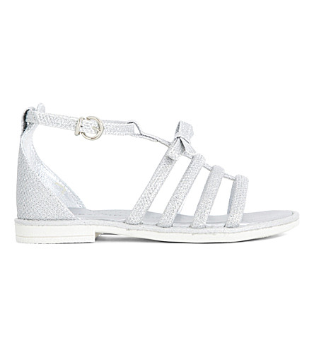 STEP2WO Galia metallic leather sandals 6-9 years (Silver+leather