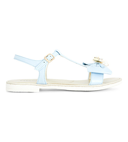 STEP2WO Scalina rhinestone and faux pearl-embellished sandals 6-10 years (Pale+blue