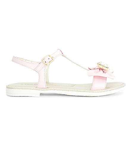 STEP2WO Scalina rhinestone and faux pearl-embellished sandals 6-10 years (Pink