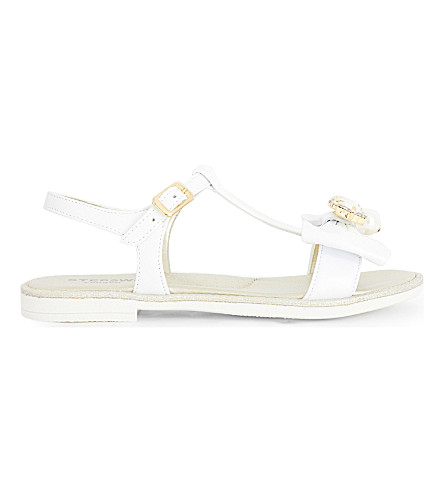 STEP2WO Scalina rhinestone and faux pearl-embellished sandals 6-10 years (White