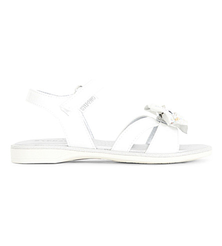 STEP2WO Kippers patent bow-detail sandals 4-9 years (White