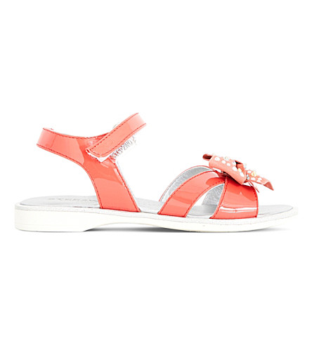 STEP2WO Kippers patent bow-detail sandals 4-9 years (Coral