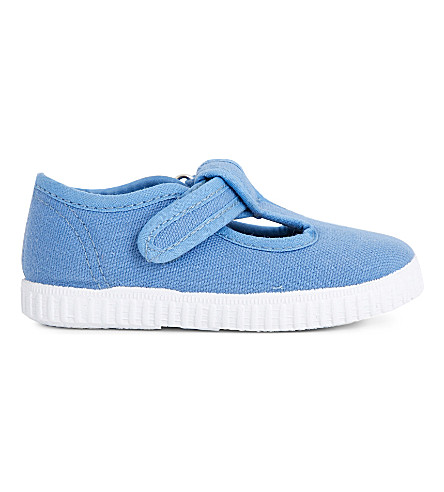 STEP2WO Mitch canvas T-bar shoes 6 months - 7 years (Blue