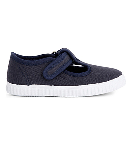 STEP2WO Mitch canvas T-bar shoes 6 months - 7 years (Navy