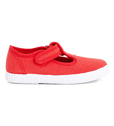 STEP2WO Mitch canvas T-bar shoes 6 months - 7 years (Red