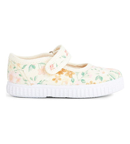 STEP2WO Greta floral canvas mary jane shoes 1-7 years (Beige