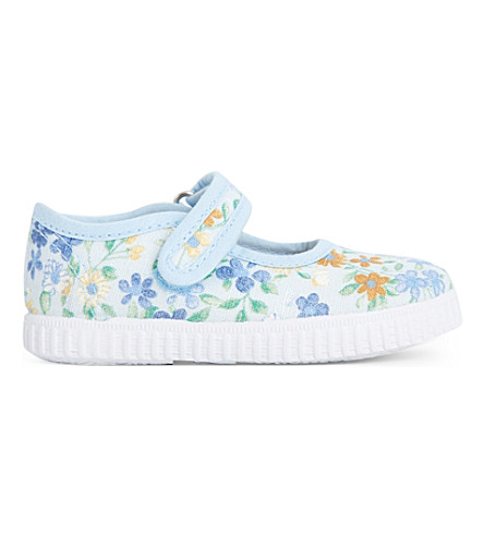 STEP2WO Greta floral canvas mary jane shoes (Blue