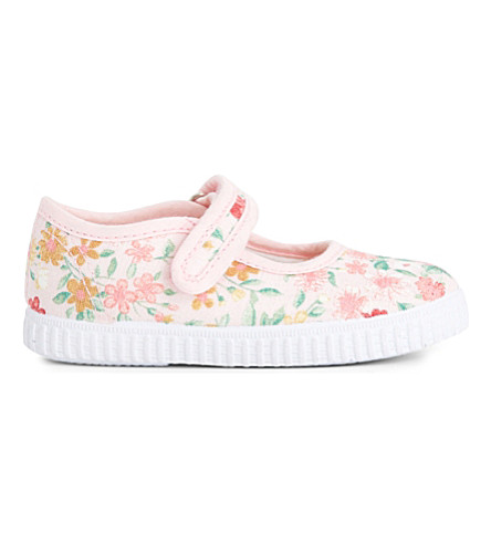 STEP2WO Greta floral canvas mary jane shoes 1-7 years (Pink