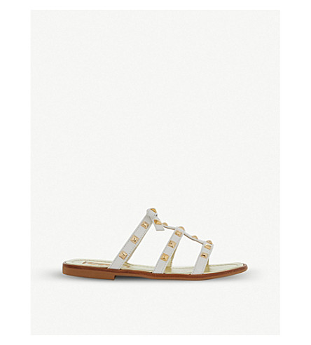 STEP2WO Antica studded leather sandals 6-10 years (White+patent