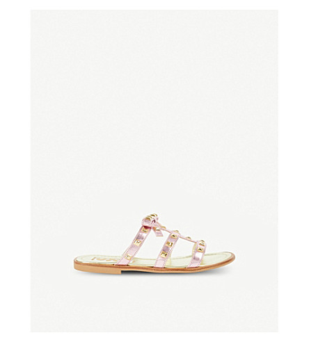 STEP2WO Antica leather sandals 6 years – 11 years (Pink+metallic