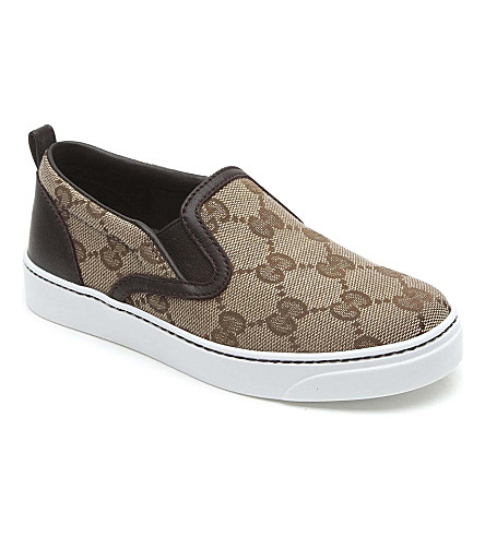 GUCCI Monogram printed trainers 2-8 years (Beige