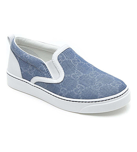 GUCCI Monogram printed trainers 2-8 years (Denim