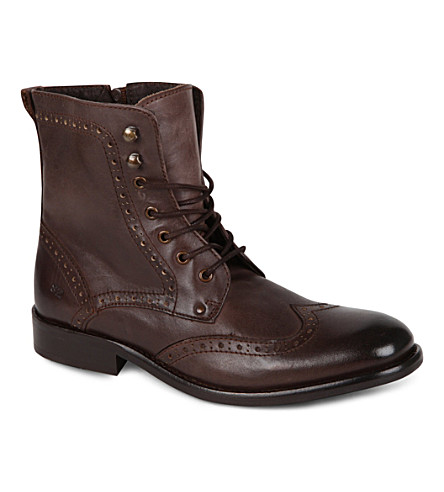 STEP2WO Frederick unisex boots 7-12 years (Brown leather